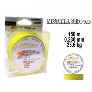 Леска плетеная Mistrall SHIRO y (0.230мм. / 150м. тест:25.60 кг.. цвет: желтый)