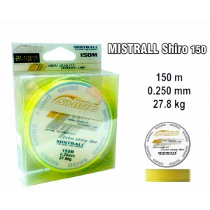 Леска плетеная Mistrall SHIRO y (0.25мм. / 150м. тест:27.80 кг.. цвет: желтый)